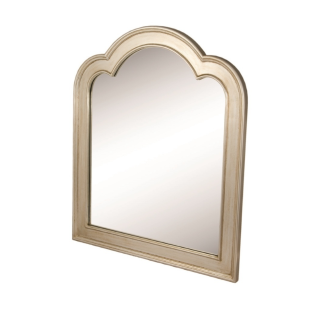 Arched Champagne Finish Mirror