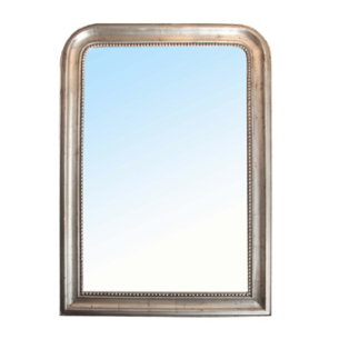 Silver Mirror with rounded corners