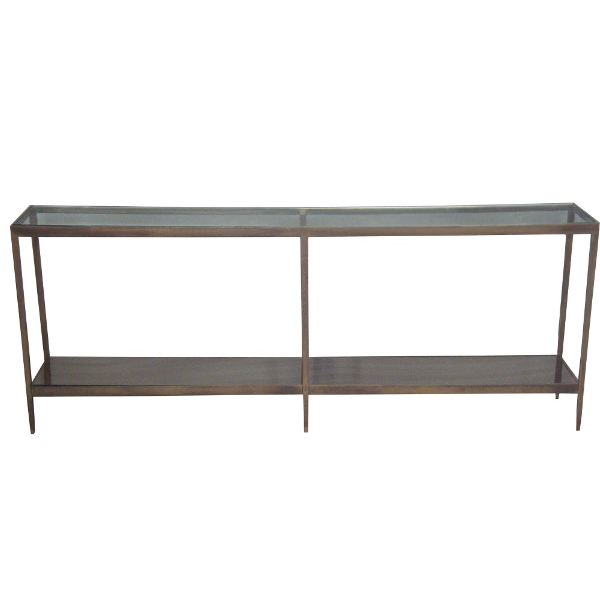 Antique Brushed Gold Console