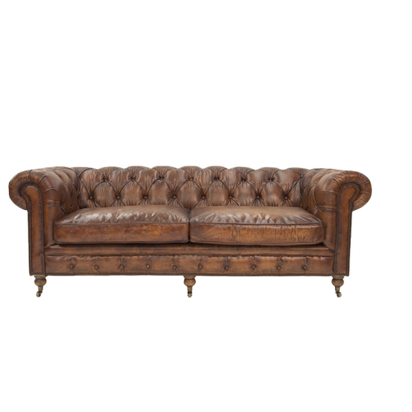 Tobacco Leather Chesterfield