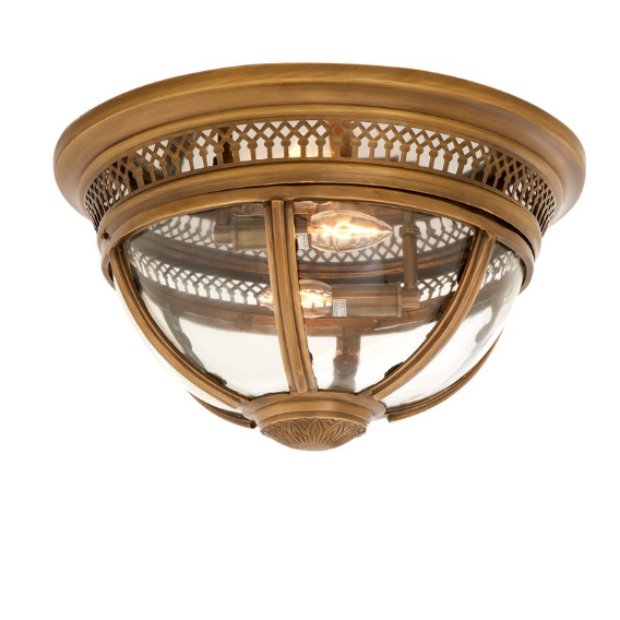 Residential Antique Brass Ceiling Lamp