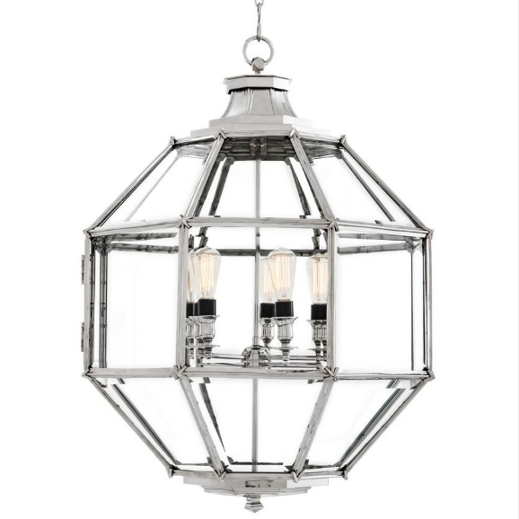 Owen Lantern Large Nickel