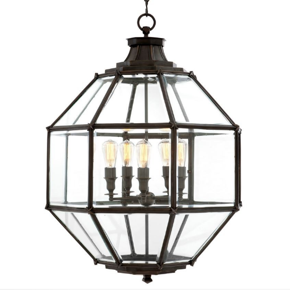Owen Lantern Large Gunmetal