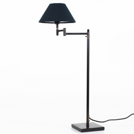 Petite Table Lamp with Charcoal Shade