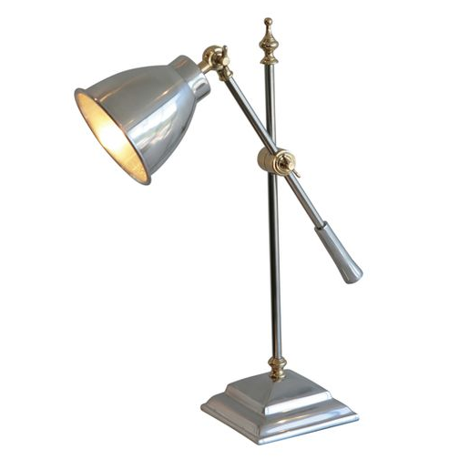 Aluminium and Brass Desk Lamp