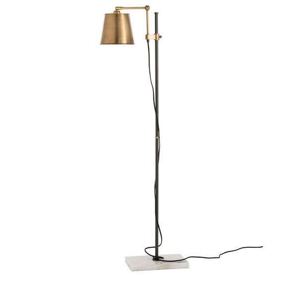 Watson Marble and Brass Floor Lamp