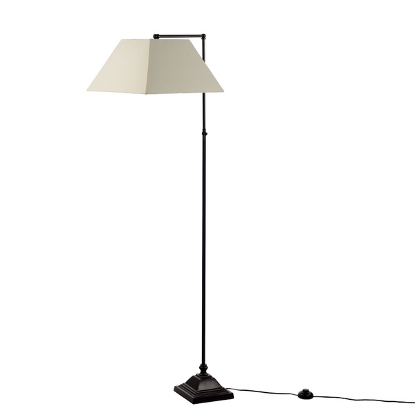 Ava Brown Metal Floor Lamp