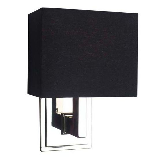 Balthazar Wall Lamp with Black Shade