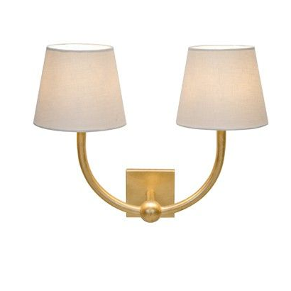 Nadia Gold Leaf 2 Arm Sconce
