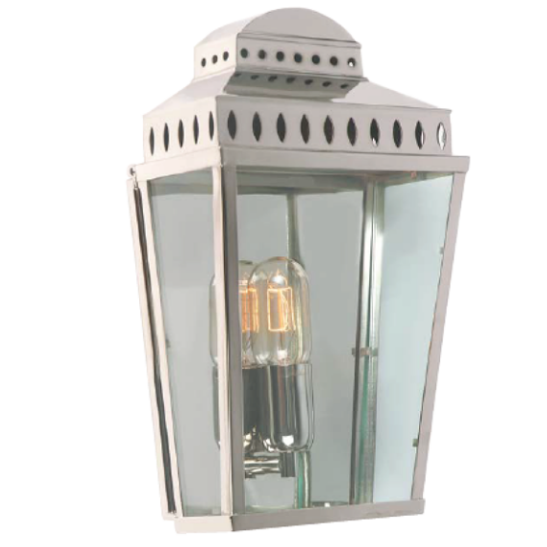 Pagoda Wall Lantern Polished Nickel