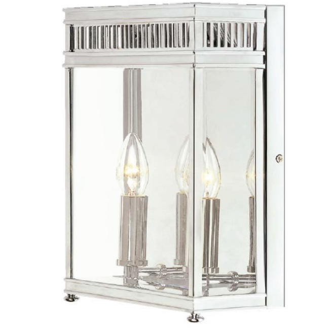 Georgian Wall Lantern Small Polished Chrome