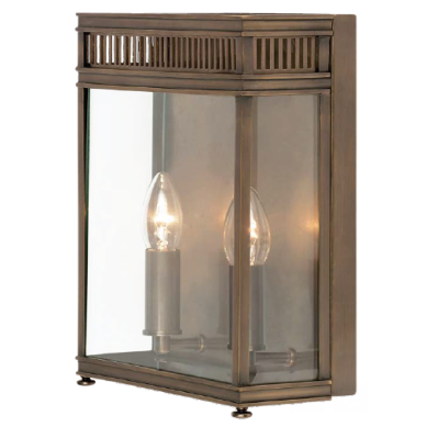 Georgian Wall Lantern Small Dark Bronze