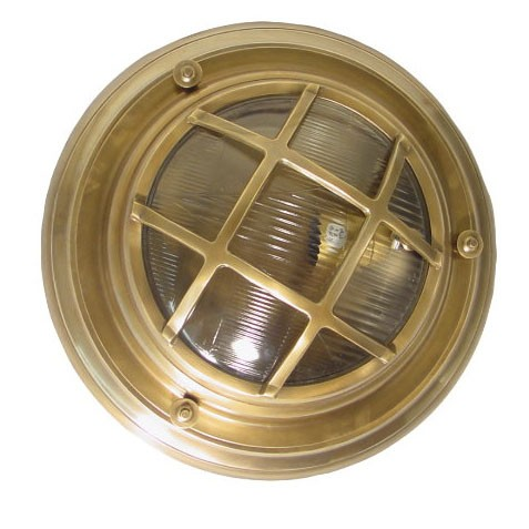 Jervis Porthole Wall Light Antique Brass