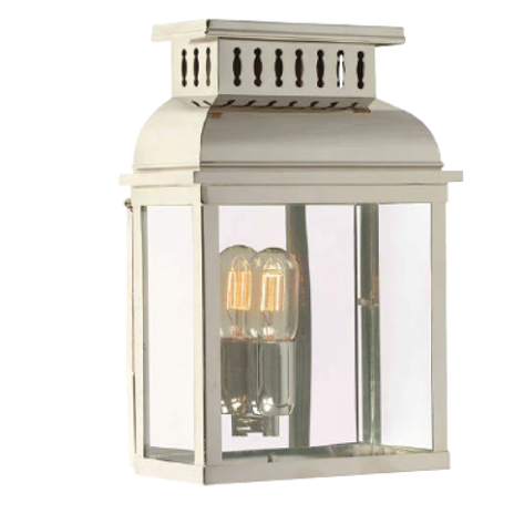 Raffles Wall Lantern Polished Nickel