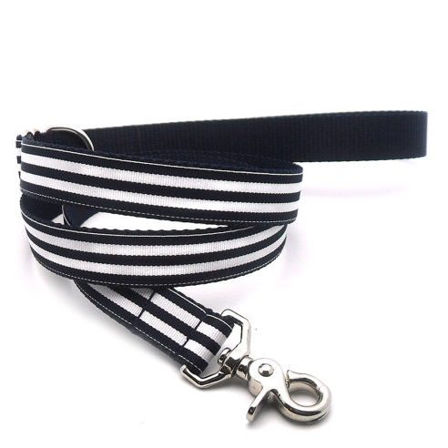 Navy/White Dog Lead and Collar