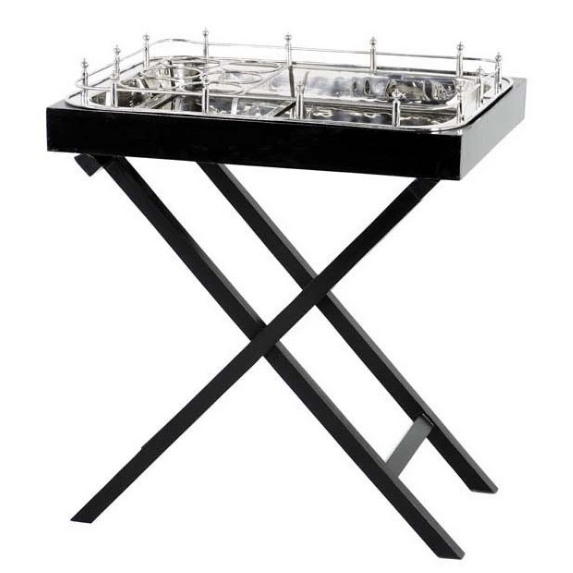 Black/Nickel Bar Tray