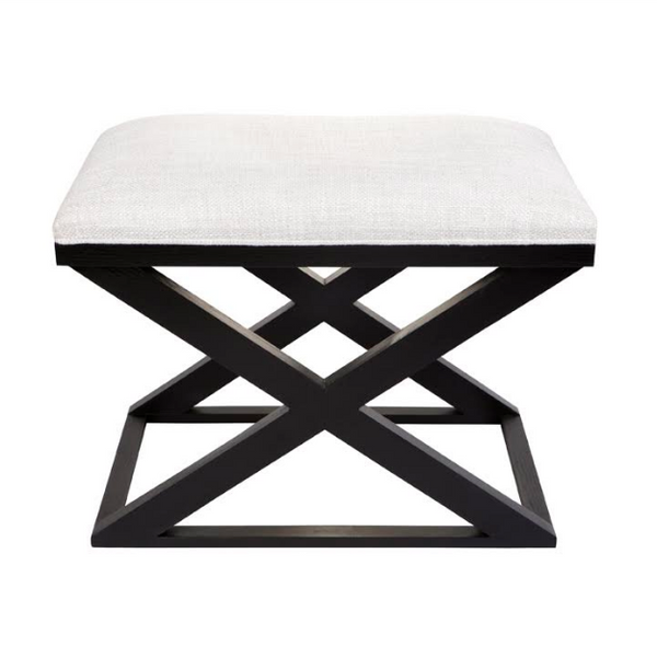 Timber and Linen Cross Stool