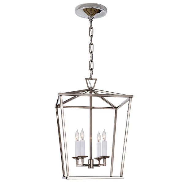 Darlana Small Lantern Polished Nickel