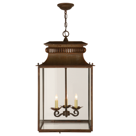 Honore Lantern in Antique Zinc Finish