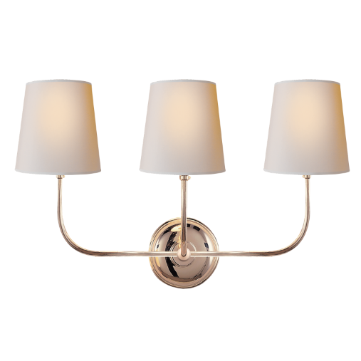 Vendome Triple Sconce in Polished Nickel