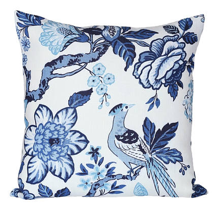 Schumacher Huntington Gardens Bleu Cushion