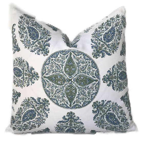 Peter Dunham Samarkand Blue Green Cushion