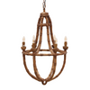 Bamboo Plaited Chandelier