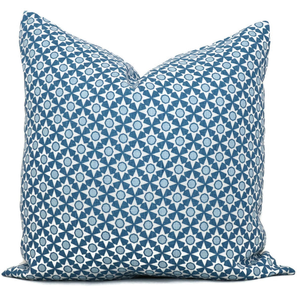 Schumacher Blue Serendipity Cushion