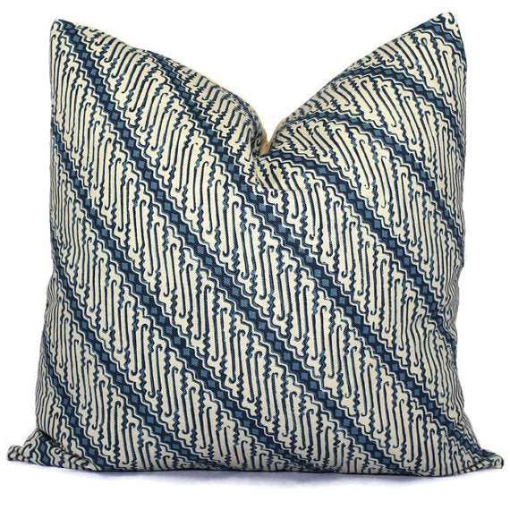 Lee Jofa Mingo Blue Cushion