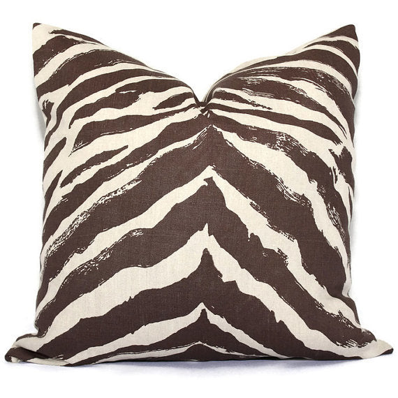 Quadrille China Seas Brown Nairobi Cushion