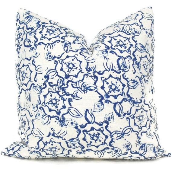 John Robshaw Dazda Indigo Blue Cushion