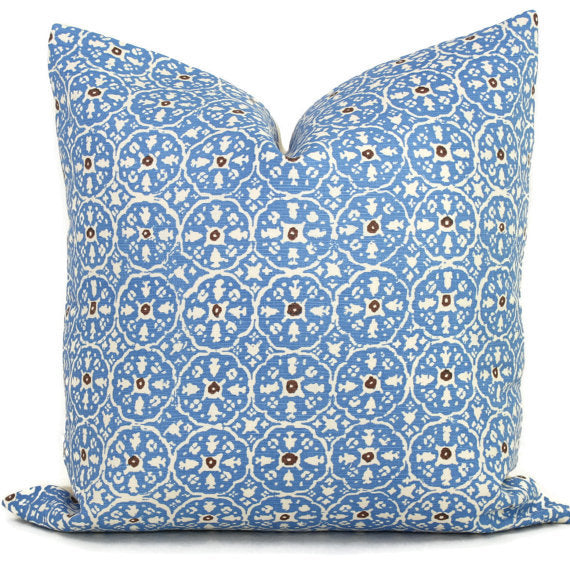 China Seas Nitik II French Blue Cushion