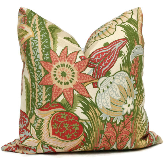 Schumacher Zanzibar Blush Cushion