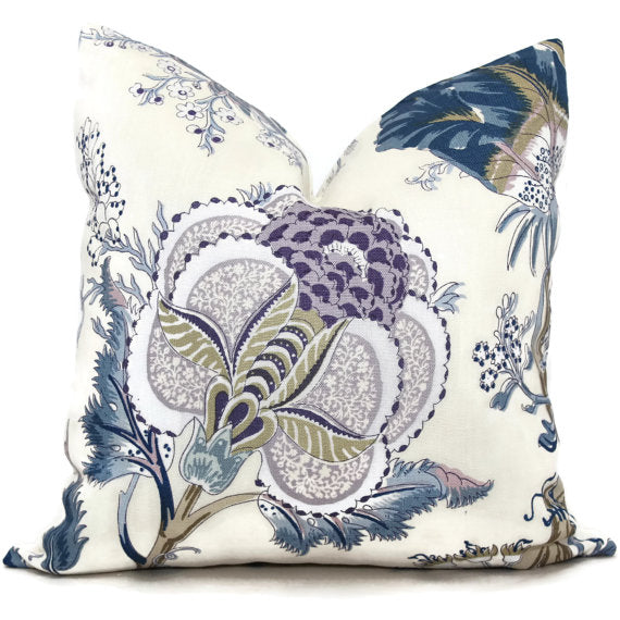 Schumacher Indian Arbre Hyacinth Cushion