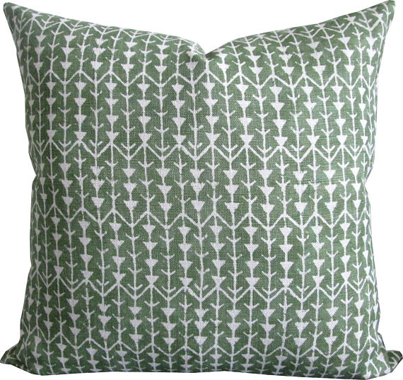 Carolina Irving Leaf Print Cushion