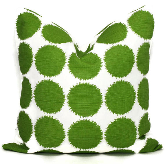 Schumacher Studio Bon Green Fuzz Cushion