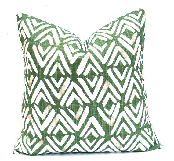 Green Diamond Cushion