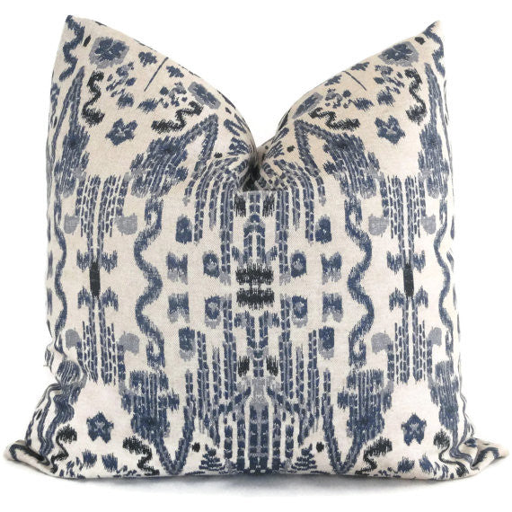 Indigo Blue Ikat Cushion
