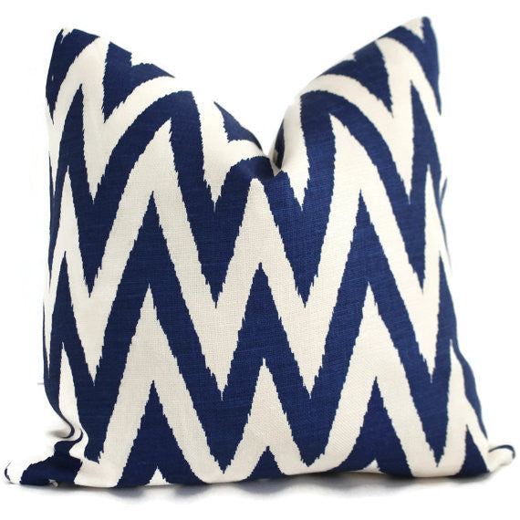 Ikat Chevron Cushion