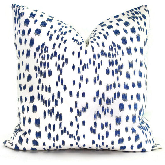 Brunschwig Fils Les Touches Blue & White Cushion