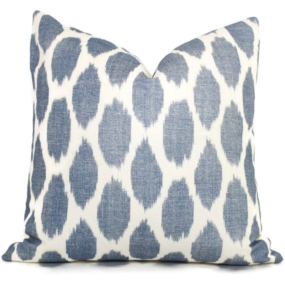 Indigo Adras Ikat Cushion