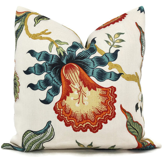Schumacher Spark Hot House Floral Cushion