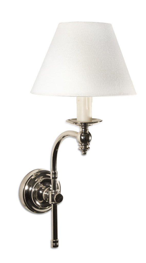 Curved Arm Sconce - Nickel