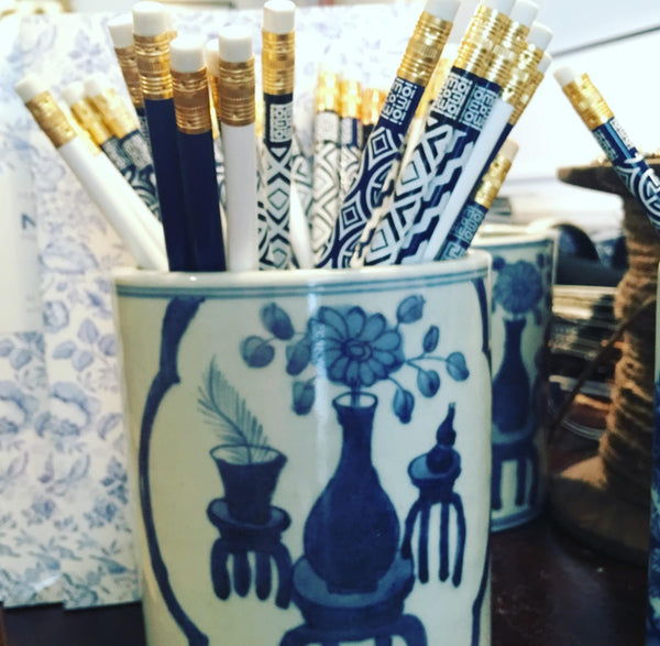 Blue & White Pencil Pot