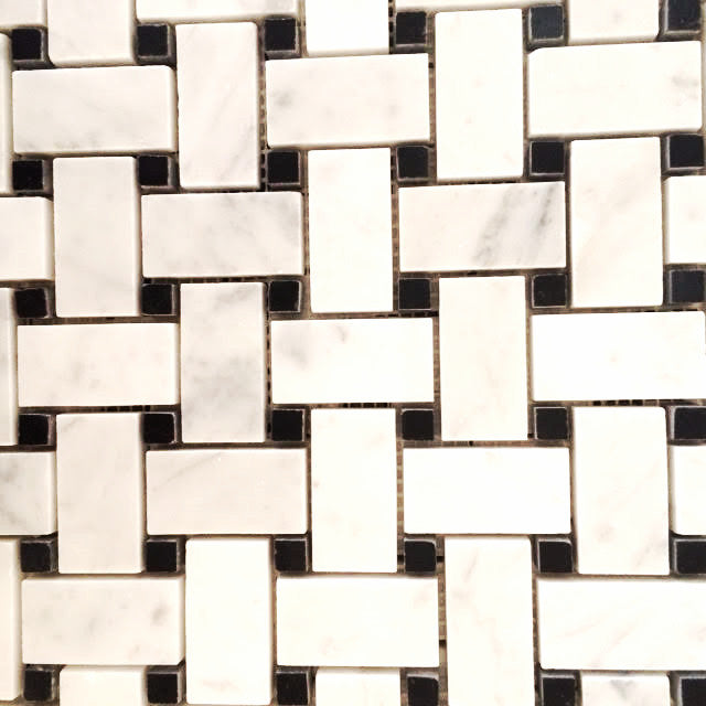 Basketweave Carrara Mosaic - Black