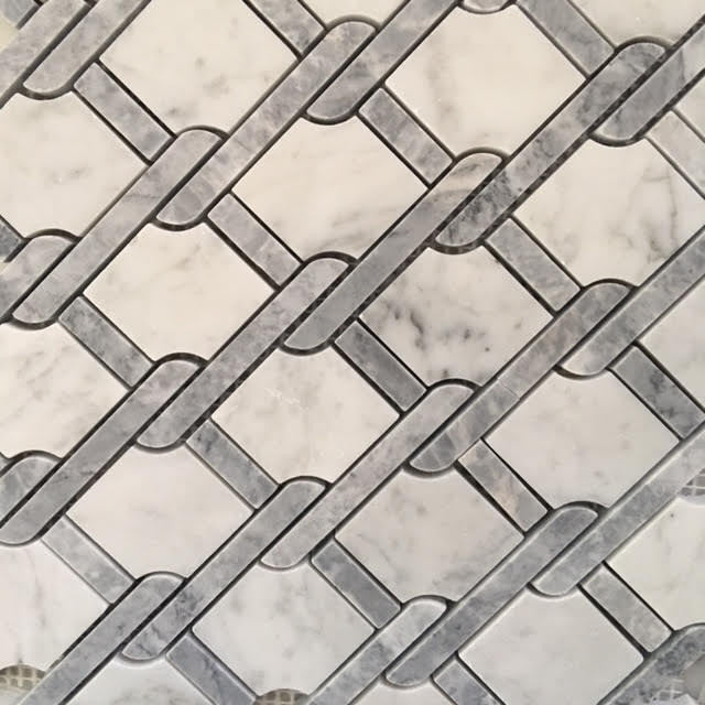 Chain Mosaic - Grey/White