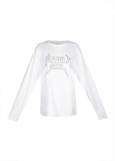 Manila Girl Band Tee (White)