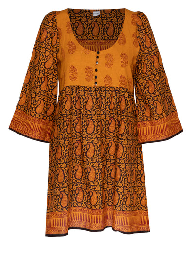 Almost Always Batik Dress (Burnt Orange)