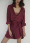 Let's Get Lost Dress (Wine)
