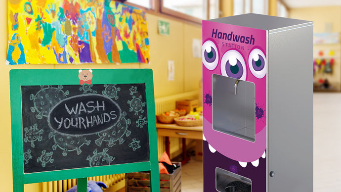 Monster handwash stations for schools